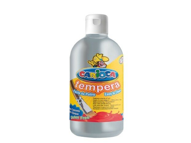 Tempera Carioca Ready, 500 ml, argintiu